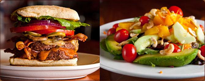 Burgers, Salads